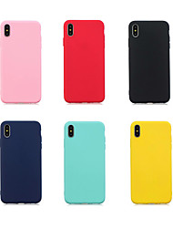 cheap -Case For Huawei Huawei Nova 3i / Huawei P Smart 2019 / Mate 10 Ultra-thin Back Cover Solid Colored Soft TPU