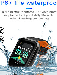 cheap -Indear M16 Men Smart Bracelet Smartwatch Android iOS Bluetooth Smart Sports Waterproof Heart Rate Monitor Blood Pressure Measurement Pedometer Call Reminder Activity Tracker Sleep Tracker Sedentary