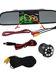 cheap -BYNCG WG4.3 4.3 inch TFT-LCD 480TVL 480 TV-Lines 1/4 inch CMOS OV7950 Wired 120 Degree 1 pcs 120 ° 4.3 inch Rear View Camera / Car Reversing Monitor / Head Up Display Night Vision for Car / Bus