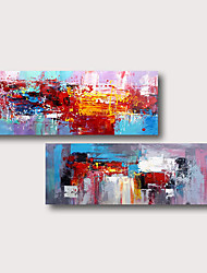 cheap -Hand Painted Stretched Oil Painting Canvas Ready to hang Abstract  Style Material High Quality Blue Purple Red