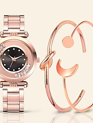 cheap -Women's Quartz Watches Quartz Stylish Vintage Water Resistant / Waterproof Stainless Steel Rose Gold Analog - White Black Blushing Pink One Year Battery Life
