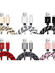 cheap -Micro USB Cable <1m / 3ft Quick Charge Nylon USB Cable Adapter For Samsung