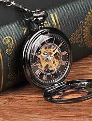 Недорогие -Муж. Карманные часы Механические, с ручным заводом Черный Повседневные часы Крупный циферблат Аналоговый На каждый день Новое поступление Steampunk - Черный