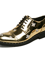 cheap -Men's Formal Shoes PU Spring & Summer / Fall & Winter Casual / British Oxfords Black / Gold / Party & Evening