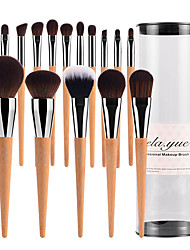 cheap -Professional Makeup Brushes 15pcs Professional Soft Full Coverage Synthetic Artificial Fibre Brush Wooden / Bamboo for Eyeliner Brush Blush Brush Foundation Brush Makeup Brush Lip Brush Eyebrow Brush