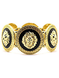 cheap -Women's Bracelet Bangles Sculpture Lion Statement European Ethnic Alloy Bracelet Jewelry Gold For Party Gift Holiday Work