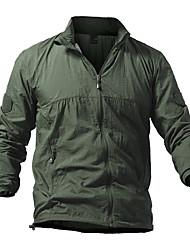 cheap -Men's Hiking Skin Jacket Hiking Jacket Outdoor Sunscreen UV Resistant Breathable Ultra Light (UL) Hoodie Shirt Military / Tactical Camping / Hiking / Caving Black / Green / Blue / Khaki