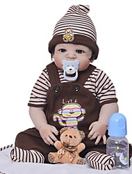 cheap -Reborn Doll Baby Girl 22 inch Full Body Silicone - Kids / Teen Kid's Unisex Toy Gift
