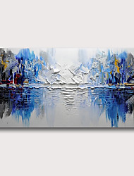 cheap -Oil Painting Hand Painted Horizontal Abstract Abstract Landscape Comtemporary Modern Stretched Canvas