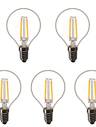 cheap -5pcs 1.5 W LED Globe Bulbs LED Filament Bulbs 200 lm E14 E26 / E27 G45 2 LED Beads High Power LED Decorative Warm White 220-240 V 220 V 230 V