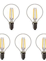 cheap -5pcs 1.5 W LED Globe Bulbs LED Filament Bulbs 200 lm E14 E26 / E27 G45 2 LED Beads High Power LED Decorative Warm White 220-240 V 220 V 230 V