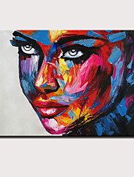 cheap -Oil Painting Hand Painted People Abstract Portrait Modern Stretched Canvas With Stretched Frame