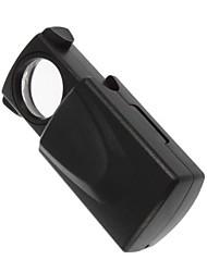 Недорогие -портативный лупа типа 30x мини карман увеличительное стекло светодиодные фонари лупа оценка ювелирных изделий люпа