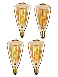 cheap -4pcs 40W E14 ST48 Warm White 2200-2800k Retro  Dimmable  Decorative Incandescent Vintage Edison Light Bulb 220-240V