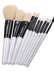 cheap -Professional Makeup Brushes 10pcs Professional Soft Full Coverage Synthetic Artificial Fibre Brush Wooden / Bamboo for Eyeliner Brush Blush Brush Foundation Brush Makeup Brush Lip Brush Eyebrow Brush
