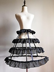 cheap -Bride Classic Lolita 1950s Dress Petticoat Hoop Skirt Crinoline Women's Girls' Costume Black / White Vintage Cosplay Wedding Party Princess