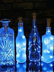 cheap -1m String Lights 10 LEDs SMD 0603 1pc Warm White Blue Purple Solar Decorative Wedding 3 V