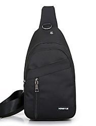 Недорогие -Муж. Молнии холст Слинг сумки на ремне Черный / Серый / Темно-серый