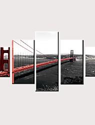 Недорогие -С картинкой Роликовые холсты Отпечатки на холсте - Природа Фото Винтаж Modern 5 панелей Репродукции
