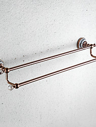 cheap -Towel Bar Multifunction Antique Brass / Ceramic 1pc - Bathroom 2-tower bar Wall Mounted