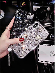 cheap -Case For Apple iPhone XS / iPhone XR / iPhone XS Max Rhinestone Back Cover Tile / Animal Hard TPU