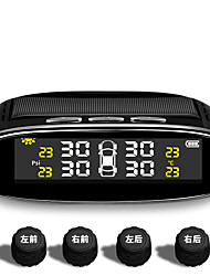 cheap -TPMS car tire pressure monitor, wireless tire pressure control alarm system, color LCD display with 4 external  sensors