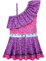 cheap -Swimsuit Swimwear Cosplay Costumes Bathing Suit Beauty and the Beast Beach Girl Kid's Cosplay Costumes Cosplay Halloween Purple Printing Christmas Halloween Carnival / Leotard / Onesie