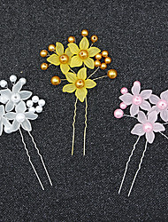 cheap -Acrylic Hair Clip with Flower 1 pc Wedding Headpiece