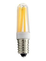 Недорогие -1шт 4 W LED лампы накаливания 400 lm E14 T 4 Светодиодные бусины COB Тёплый белый Белый 220-240 V / RoHs
