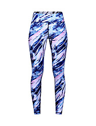 cheap -Women's High Waist Yoga Pants Cropped Leggings Breathable Quick Dry Moisture Wicking Blue Non See-through Gym Workout Running Fitness Sports Activewear High Elasticity Slim