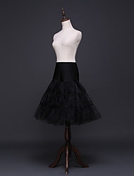 cheap -Ballet Classic Lolita 1950s Layered Dress Petticoat Hoop Skirt Crinoline Women's Girls' Tulle Costume Black / Red Vintage Cosplay Party Performance Princess