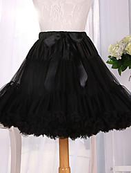 cheap -Ballet Classic Lolita 1950s Dress Petticoat Hoop Skirt Tutu Crinoline Women's Girls' Tulle Costume Black Vintage Cosplay Party Performance Princess