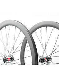 cheap -FARSPORTS 700CC Wheelsets Cycling 26 mm Road Bike Carbon Fiber Clincher / Tubeless Compatible 24/24 Spokes 45 mm