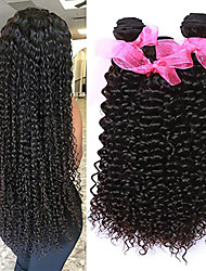 cheap -3 Bundles Malaysian Hair Curly Virgin Human Hair 100% Remy Hair Weave Bundles 300 g Headpiece Natural Color Hair Weaves / Hair Bulk Bundle Hair 8-28 inch Natural Color Human Hair Weaves Odor Free