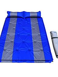 cheap -Sleeping Pad Self-Inflating Sleeping Pad Air Pad Outdoor Camping Lightweight 3D Pad Thick PVC(PolyVinyl Chloride) PVC Tarpaulin for 2 person Climbing Beach Camping / Hiking / Caving All Seasons Blue