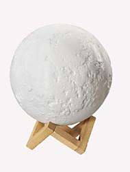 Недорогие -Новинка светодиодная лампа ночник 3d печати луна лампы дистанционного управления красочные лампы для комнаты рождественские украшения