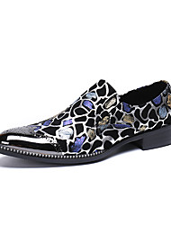 cheap -Men's Novelty Shoes Nappa Leather Spring / Fall & Winter Casual / British Loafers & Slip-Ons Non-slipping Gradient Black / Party & Evening / Party & Evening / Dress Shoes / Moccasin