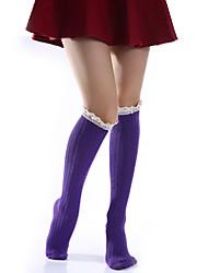 Недорогие -Жен. Хлопок Ультратеплые Сексуальные платья Чулки 680D Бежевый Лиловый Светло-серый Один размер