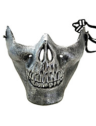cheap -Cosplay Costume Mask Inspired by Skeleton / Skull Scary Movie Black Golden Cosplay Halloween Halloween Carnival Masquerade Adults' Men's Women's