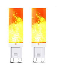 cheap -2pcs 3 W LED Bi-pin Lights 240-300 lm G9 T 36 LED Beads SMD 2835 3D Firework Warm White 220 V