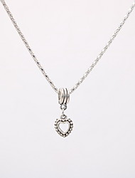 cheap -Women's Pendant Necklace Necklace Charm Necklace Classic Heart Dainty Unique Design Trendy Fashion Silver Plated Chrome Silver 42 cm Necklace Jewelry 1pc For Graduation Daily Street Work Festival