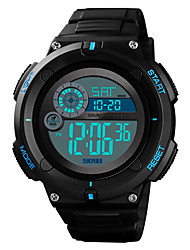 cheap -SKMEI Men's Digital Watch Quartz Outdoor Military Silicone Black Digital - Black Red Blue One Year Battery Life / Water Resistant / Waterproof / Alarm / Calendar / date / day / Chronograph