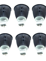 cheap -6pcs 7 W LED Spotlight 500 lm MR16 1 LED Beads Warm White 12 V