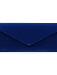 abordables -Femme Polyester Pochette Couleur unie Rouge / Bleu de minuit / Amande / Automne hiver