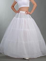 cheap -Bride Classic Lolita 1950s Dress Petticoat Hoop Skirt Tutu Crinoline Women's Girls' Tulle Costume White Vintage Cosplay Party Performance Maxi Princess
