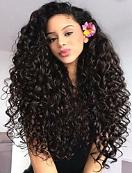 cheap -Remy Human Hair Glueless Lace Front Lace Front Wig style Brazilian Hair Body Wave Wig 130% 150% 180% Density with Baby Hair Natural Hairline African American Wig 100% Hand Tied Women's Short Medium