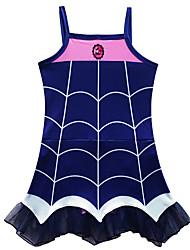 cheap -Swimsuit Swimwear Cosplay Costumes Bathing Suit Vampire Beach Girl Kid's Cosplay Costumes Cosplay Halloween Ink Blue Cartoon Vampires Christmas Halloween Carnival / Leotard / Onesie