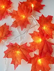 cheap -1 set 20 LEDs String Light Red Maple Leaf Props Maple Leaf Night Light Thanksgiving Holiday Home Decoration USB