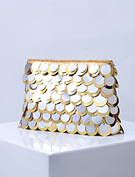cheap -Women's Bags Polyester Evening Bag Glitter Sequin Wedding Party Event / Party Black Gold Silver