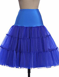 cheap -Bride Classic Lolita 1950s Dress Petticoat Hoop Skirt Tutu Crinoline Women's Girls' Tulle Costume Black / White / Purple Vintage Cosplay Party Performance Knee Length Princess
